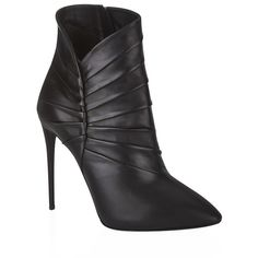 67e031527855 Giuseppe Zanotti Electus Leather Boot (€560) ❤ liked on Polyvore featuring  shoes