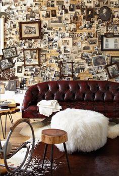 wall + sofa