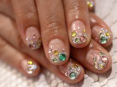 nail art for short nails, stone #shortnail #nailart
