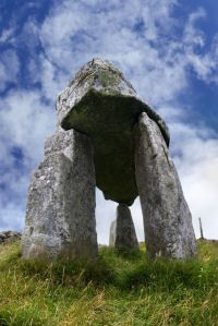 Located near the village of Leitrim, this dolmen is thought be at least 5,000 years old and was probably the grave a clan chieftain. Originally covered by earth to the capstone, portal tombs such as these were once thought by locals to be druid altars or, perhaps, tombs of giants.