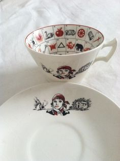 Rare Art Deco 1940s Romany Fortune Telling Teacup and by karpark88, $150.00