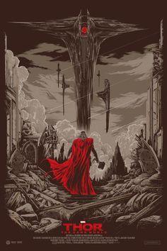 Thor: The Dark World Movie Poster by Ken Taylor - W.B.