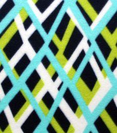 Blizzard Fleece Fabric Woven Lines