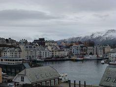 [ I think it's Alesund! Trondheim Norway, Half Board, Alesund, Us Sailing, Tromso, Arctic Circle, Lofoten, Natural Phenomena, Walking Tour