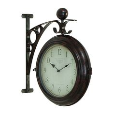 Shop Woodland Imports  42807 Metal Double Sided Wall Clock at ATG Stores. Browse our wall clocks, all with free shipping and best price guaranteed.