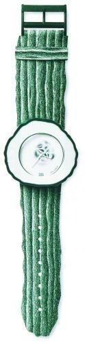 gourd swatch; Eigentlich eignete sich die Gurke nicht zur Werbung, schließlich ist das Wort ein Synonym für Versager und Trottel jeglicher Art. Doch als Schweizer Künstler Alfred Hofkunst 1991 aus dem Gemüse eine Pop-Swatch kreierte, standen die Menschen vor den Geschäften stundenlang Schlange.