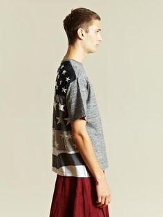 Facetasm Men's Stars and Stripes T-shirt | LN-CC