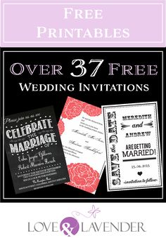 Wedding Program Over 37 FREE wedding printables including invitations and save-the-dates. Free Printable Wedding Invitations, Inexpensive Wedding Invitations, Wedding Reception Invitations, Diy Invitations, Wedding Venues, Wedding Ideas, Wedding Planning, Wedding Vows, Wedding Programs