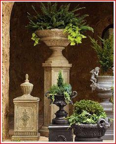 Nice Urns And Pedestals. Garden UrnsGarden PlantersGarden  ArchitectureContainer ...
