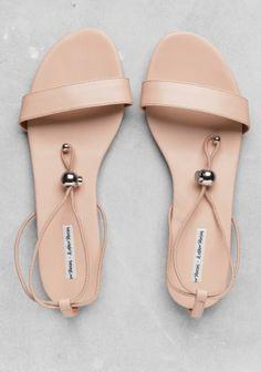 Blush sandals