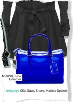 Furla Bag, $228 clipped from Marie Claire using Netpage.