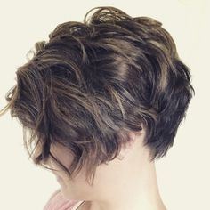 Curly, disconnected, asymmetric pixie #shorthair #pixielove