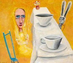 Mad Hatter's tea party, Alice in Wonderland, Charles Blackman