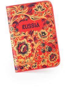 Обложка для паспорта «Хохлома»