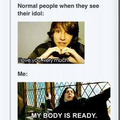 hahaha! @Charlsie Nacrelli  thats me acting normal! and you, freaking out!  haha!