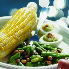 Healthier Three-Bean Salad with Edamame