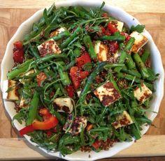 Asparagus & Haloumi Quinoa Salad