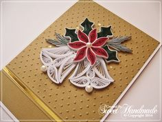 Billedresultat for quilling anleitung weihnachten Paper Quilling Tutorial, Paper Quilling Designs, Quilling Paper Craft, Quilling Patterns, Paper Crafts, Gold Christmas, Christmas Bells, Christmas Crafts, Handmade Christmas
