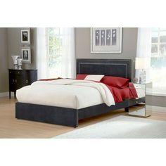 Amber Pewter King Platform Bed Set