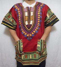 9bbd6025783 Men Dashiki African Shirt Beach Top Vintage Boho Blouse Hippie Style Tribal  Wear