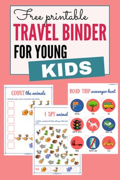 Travel activities for kids: This printable travel binder is awesome for keeping kids busy during long car rides and road trips! #FamilyTravel #TravelingWithKids #TravelActivities