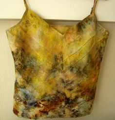 eco dyeing Summer blouse - dyed plants without the use of chemical fixatives - eco dyeing, eco printing, hand made, blouse
