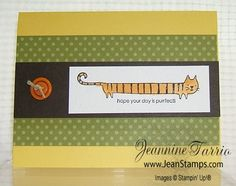 Stampin' Up!'s Long Fellows Card Stamp Set is Purrfect! Jeannine Tarrio, July 2010