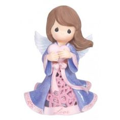 Love Angel - LED Love Angel Holding Heart #preciousmoments