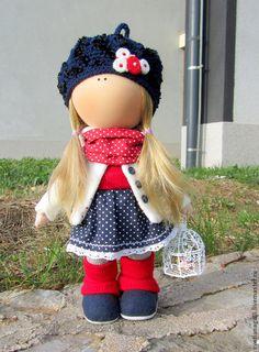 Человечки ручной работы. Ярмарка Мастеров - ручная работа. Купить Кукла интерьерная Девочка с птичкой. Handmade. Кукла интерьерная, кукла