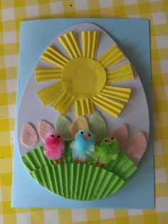 easter egg card for preschoolers