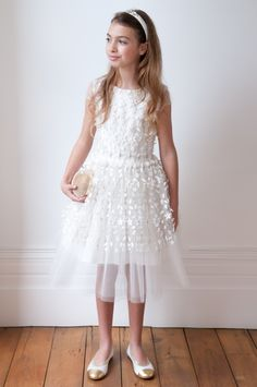 0345ba75a Introducing our Ivory Spring Floral Princess Dress #WednesdayWardrobe # DavidCharles #TeenDresses Girls Designer Dresses