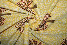 By The Yard Indian 100% Cotton Tree Print  Yellow Running | Etsy#cotton #etsy #indian #print #running #tree #yard #yellow Yellow Fabric, Tree Print, Small Gardens, Indoor Garden, Amazing Gardens, Printed Cotton, Cotton Fabric, Yard, Patio