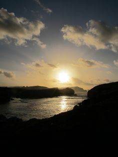 Sunset from Virgen del Mar Island, Cantabria, Spain.