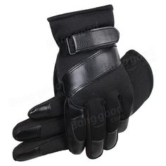 Men Male Nylon Leather Thread Driving Gloves Thick Skidproof Outdoor Cycling Mittens at Banggood