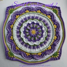 Sweet Caroline Part 2 Welcome to part 2 of this mini cal. WOW, I have seen some amazing and beautiful combinations of colours, from part 1. Are you ready to start hooking and singing again?   Hands, touching hands Reaching out, touching me, touching you I just love the way the crochet community brings …