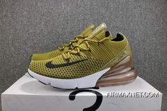 watch 9cd22 71003 Nike Air Max 270 New Heel Half-palm Cushion Knitting Jogging Shoes Green  AO1023-300 Men Shoes Online