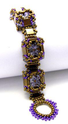 Tila Crystal Box Bracelet Tutorial // Beading Pattern di MyAmari