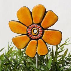 flower garden art  plant stake  flower sculpture  by TORIART, €15.00