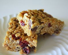 Chewy Granola Bars - I made them this afternoon, and they are soooo good!  Perfect recipe