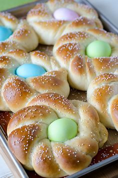 "Italian Easter Bread Recipe ~ Previous pinner wrote, ""The bread bakes up insanely soft, and is on the sweeter side."""