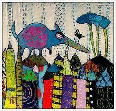 The Art of Fibrite, Elketrittel, mixed media artist. Art And Illustration, Primary School Art, Art Carte, Creation Art, Art Sculpture, Wow Art, Chalk Pastels, Naive Art, Art For Art Sake