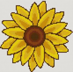 cross stitch patterns | Sunflower free cross stitch pattern