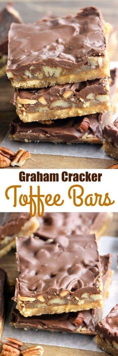 Graham Cracker Toffee Bars - only 5 ingredients to make. Graham Cracker Toffee Bars - only 5 ingredients to make the Graham Cracker Toffee Bars - only 5 ingredients to make the tastiest easiest toffee bars! Perfect for an easy holiday treat. Candy Recipes, Sweet Recipes, Baking Recipes, Cookie Recipes, Dessert Recipes, Bar Recipes, Recipies, Baking Ideas, Graham Cracker Toffee