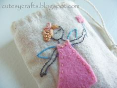 Free tooth fairy embroidery pattern.