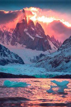 Mountain + water