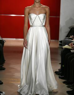 Reem Acra - Geometric Structure...This would be perfect if it was black with silver detailing/structure.