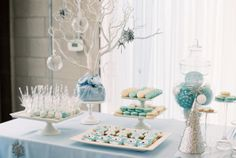 Sweet Table Details from a Winter ONEderland Birthday Party via Kara's Party Ideas KarasPartyIdeas.com (13)