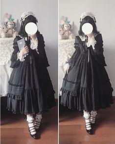 Gothic Lolita Fashion, Gothic Dress, Lolita Dress, Lolita Style, Harajuku Fashion, Kawaii Fashion, Visual Kei, Sailor Fashion, Fantasy Dress