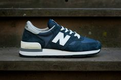 """Picture of New Balance 990 """"Made in USA"""" Navy Re-Issue"""