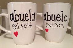 Pregnancy announcement mug grandparent mug by simplymadegreetings
